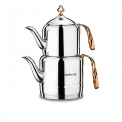 Korkmaz Çintemani Rosagold Çaydanlık Takımı