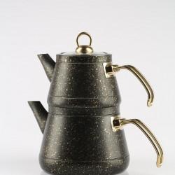 Remetta Granit Aile Boy Çaydanlık Siyah