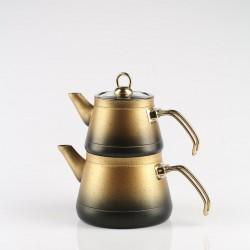 Remetta Granit Aile Boy Çaydanlık Altın