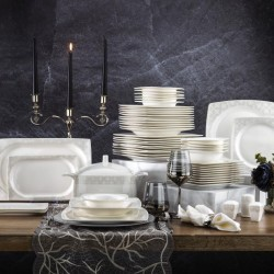 Schafer Wondel Yemek Takımı 60 Parça Beyaz-05