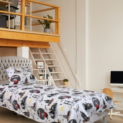 Handy Home Nubuk Tek Kişilik Çift Taraflı 150x230 cm Yatak Örtüsü Kanlıca