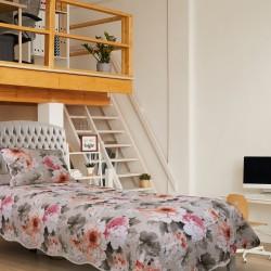Handy Home Nubuk Tek Kişilik Çift Taraflı 150x230 cm Yatak Örtüsü Flor
