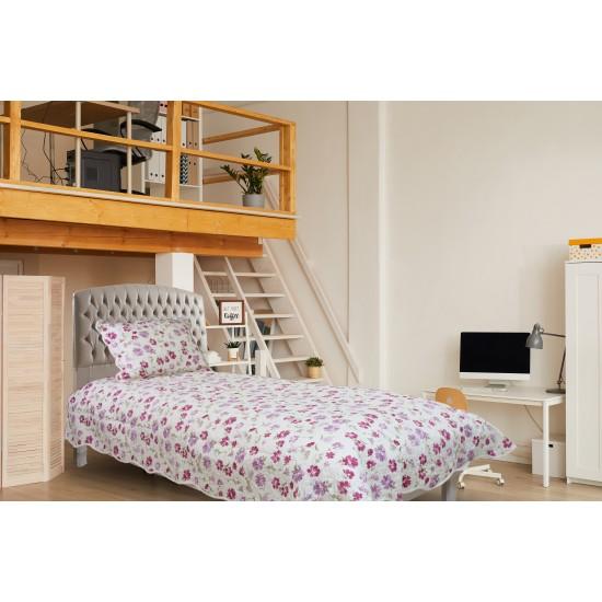 Handy Home Nubuk Tek Kişilik Çift Taraflı 150x230 cm Yatak Örtüsü Kiki