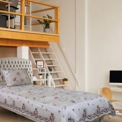 Handy Home Nubuk Tek Kişilik Çift Taraflı 150x230 cm Yatak Örtüsü Selina