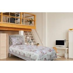 Handy Home Nubuk Tek Kişilik Çift Taraflı 150x230 cm Yatak Örtüsü Lorenz