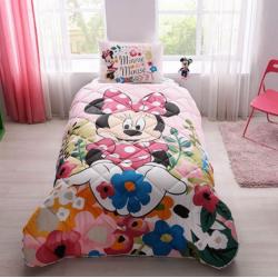 Taç Tek Kişilik Lisanslı Yorgan Seti Disney Minnie