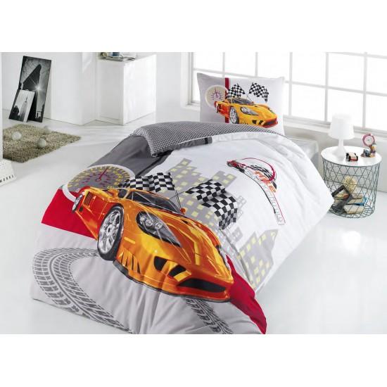 Handy Home PolyCotton Tek Kişilik Nevresim Takımı Racing