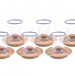 Bambum Ceylon 12 Parça Çay Seti Lacivert