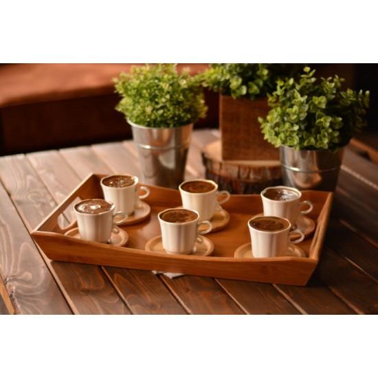 Bambum Isla 6 Kişilik Kahve Fincan Takımı