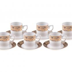 Bambum Kasumi  6 Kişilik Kahve Fincan Takımı Altın