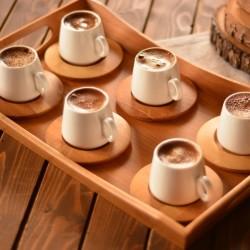 Bambum Ottoman 6 Kişilik Kahve Takımı Sade