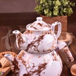Bambum Pablo Porselen Demlikli Çaydanlık