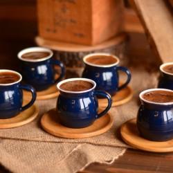 Bambum Selam 6 Kisilik Kahve Fincan Takimi Mavi