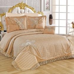 Golden Home Çift Kişilik Hayal Kapitone Yatak Örtüsü Cappucino