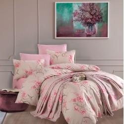 Golden Home Life Çift Kişilik Nevresim Takımı Hazan Pink