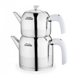Schafer Ada Çaydanlık Takımı 4 Parça Beyaz