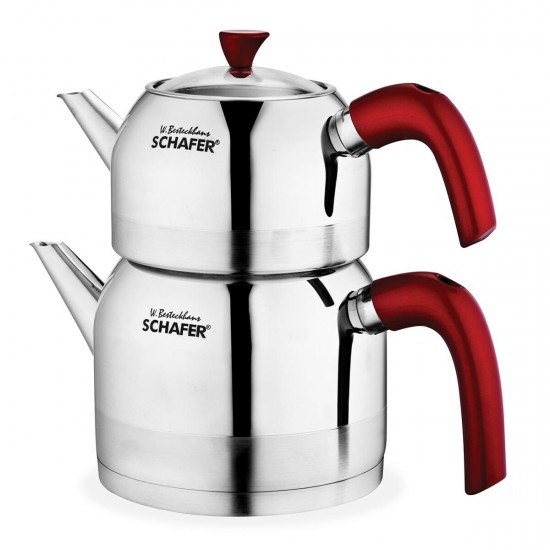 Schafer Ada Çaydanlık Takımı 4 Parça Kırmızı