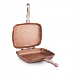 Schafer Kare Double Grill Pan 32 Cm Rosegold